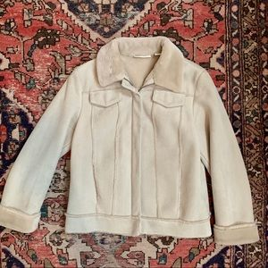Lord & Taylor Faux Suede & Shearling Jacket